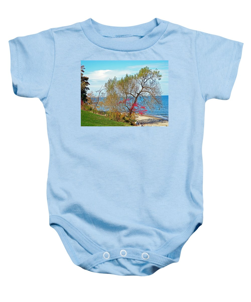 Beach Baby Onesie featuring the photograph Beach Tree by Aimee L Maher ALM GALLERY