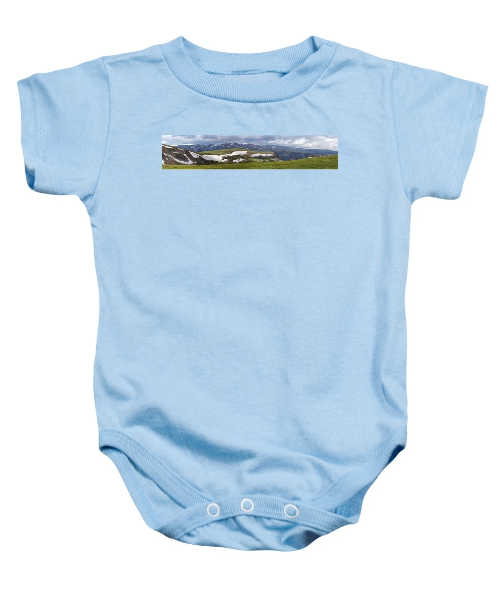 Mountain Goat Baby Onesie featuring the photograph Beartooth Vista by Max Waugh