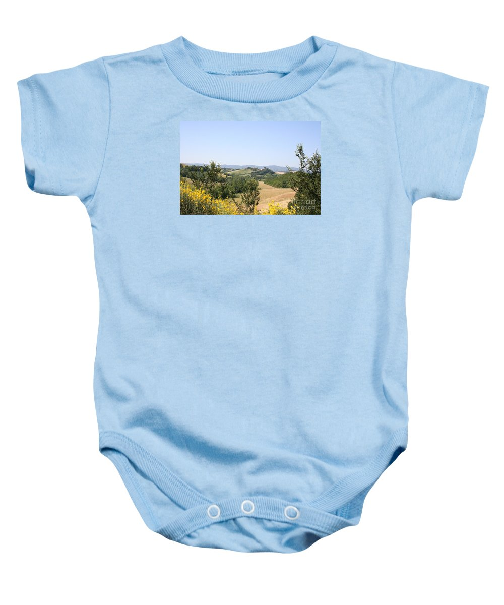Crete Senesi Baby Onesie featuring the photograph Beautiful Spot - Crete Senesi by Christiane Schulze Art And Photography