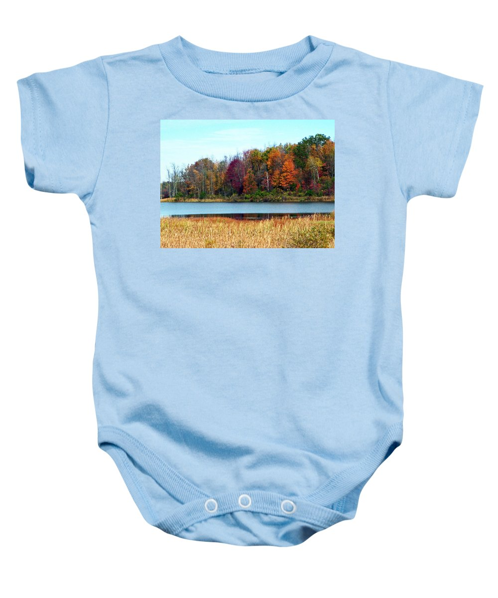 Autumn Baby Onesie featuring the photograph Beauty Of Fall by Aimee L Maher ALM GALLERY