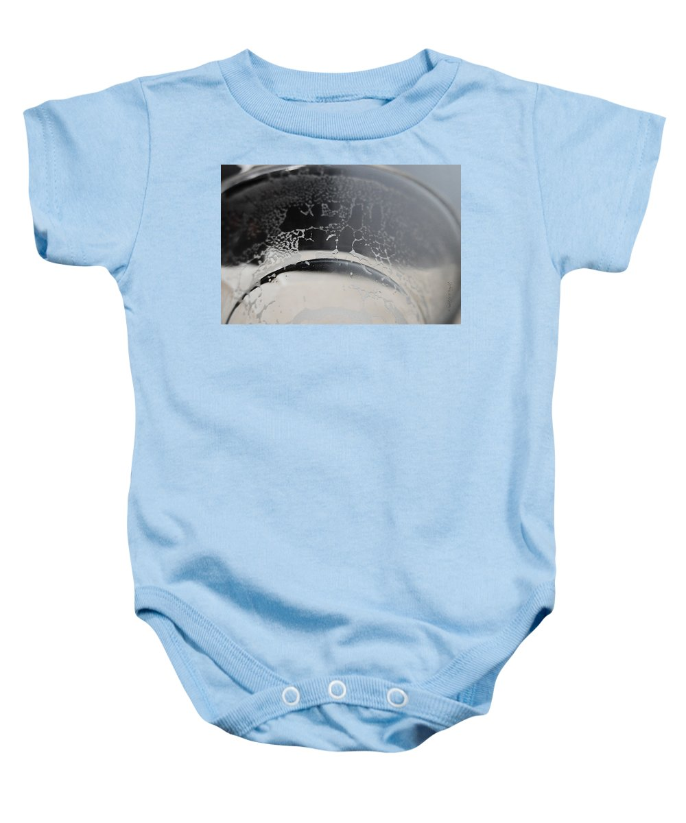 Popular Baby Onesie featuring the photograph Beer Residue by Paulette B Wright