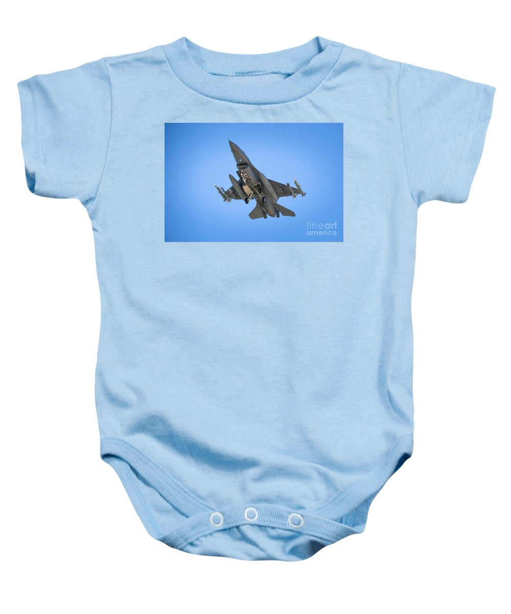 F-15 Baby Onesie featuring the photograph Belly Of The Beast by M Dale