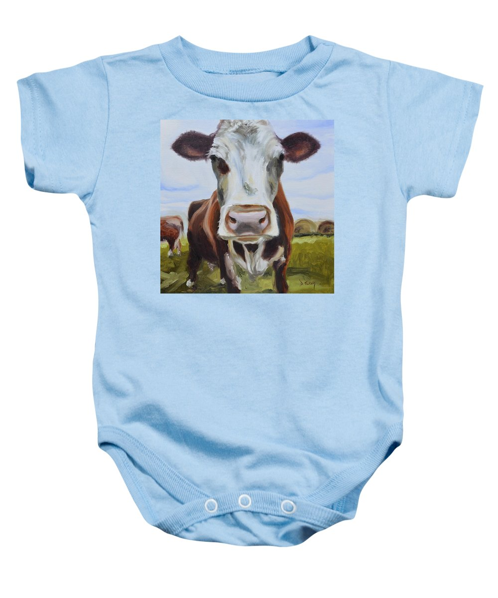 Donna Tuten Baby Onesie featuring the painting Betsy by Donna Tuten