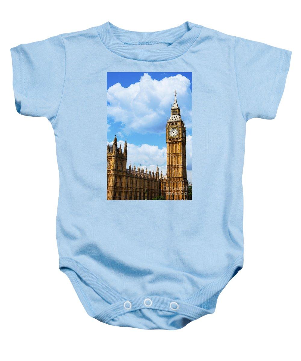 Big Ben Baby Onesie featuring the photograph Big Ben by Mariola Bitner