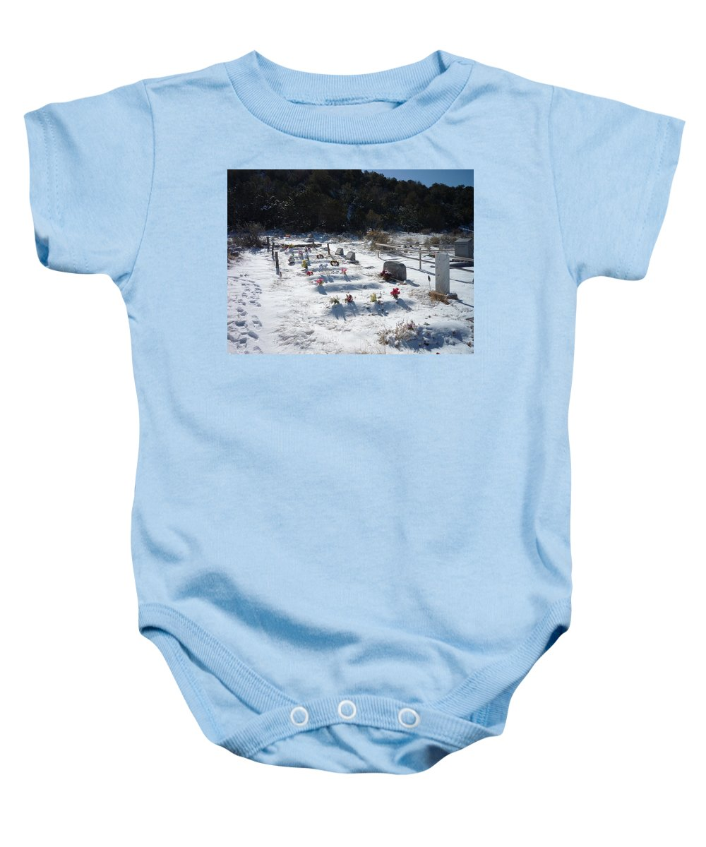 Cemetary Baby Onesie featuring the photograph Blanket by Jennifer Lavigne
