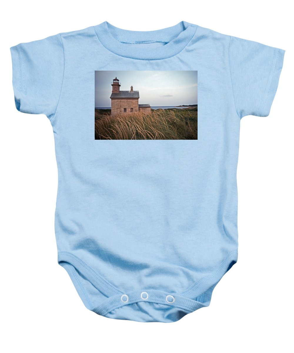 Lighthouse Baby Onesie featuring the photograph Block Island North West Lighthouse by Skip Willits
