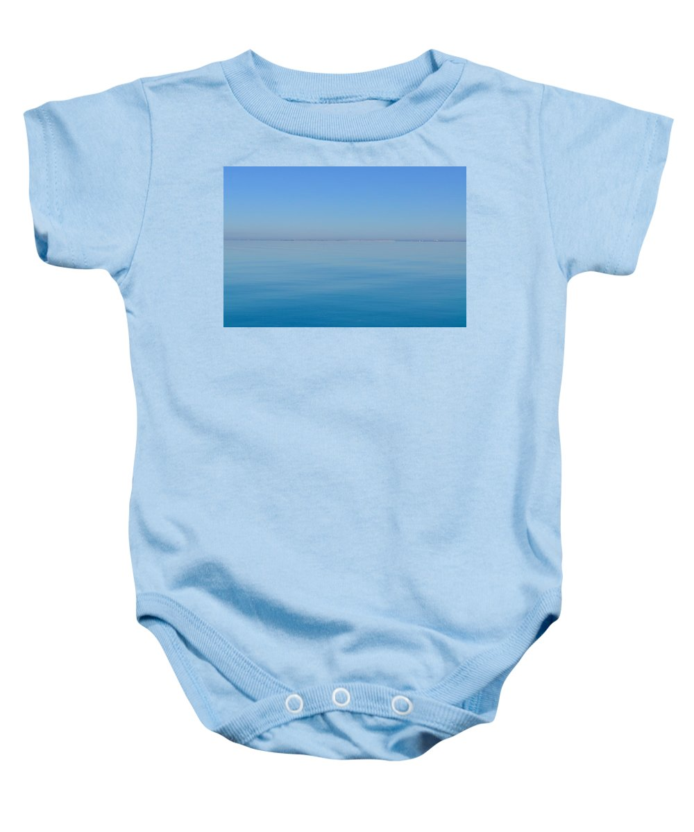 Blue Ocean Baby Onesie featuring the photograph Blue Glass by Kristina Deane