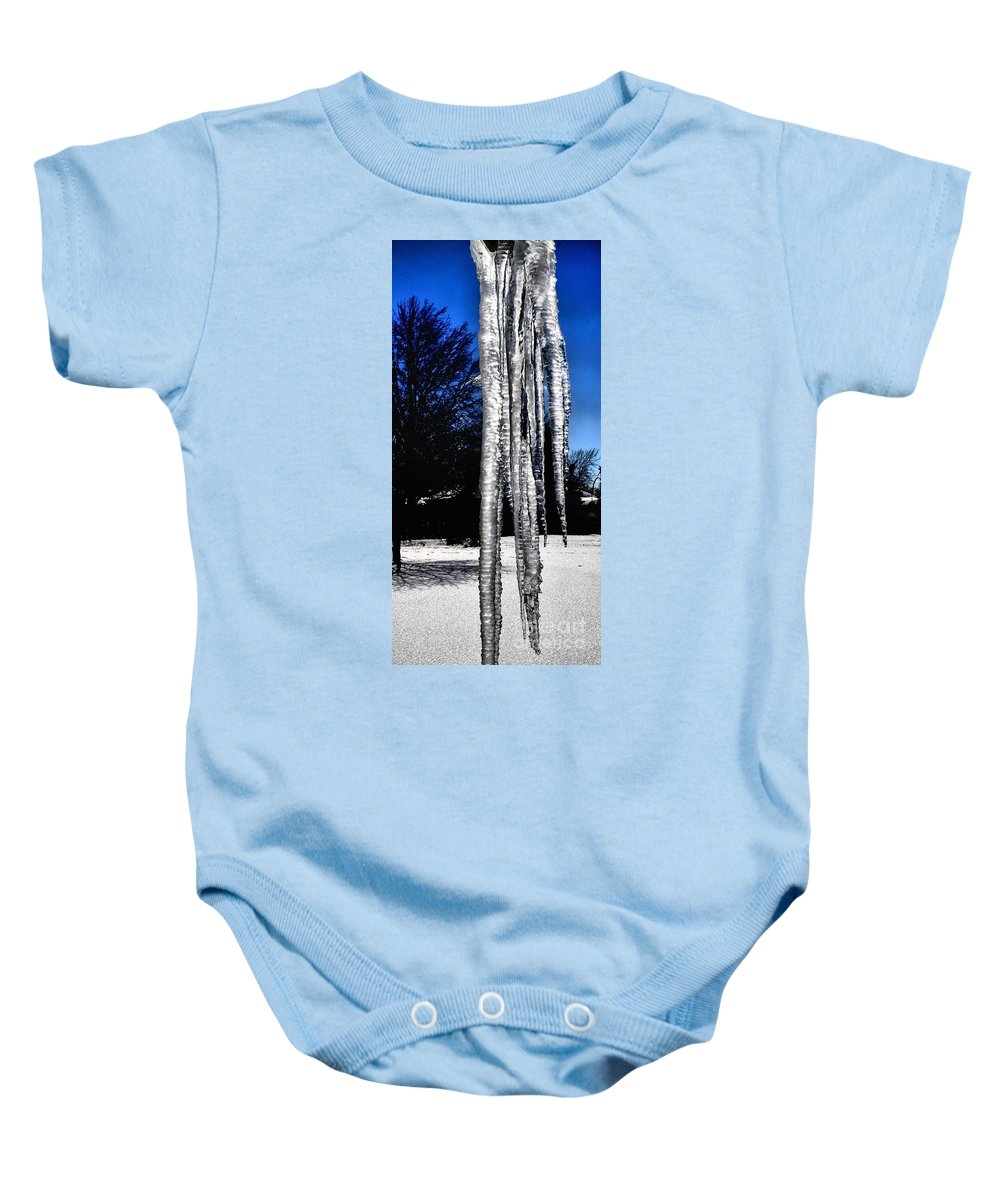 Ice Baby Onesie featuring the photograph Blue Ice by Luther Fine Art