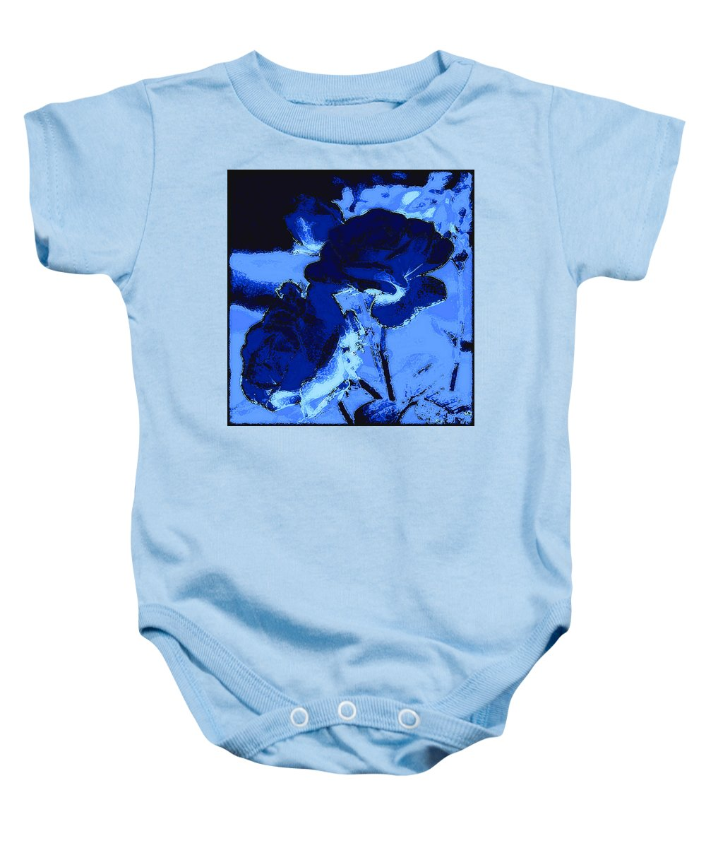 Flower Baby Onesie featuring the photograph Blue Roses by Kathy Sampson