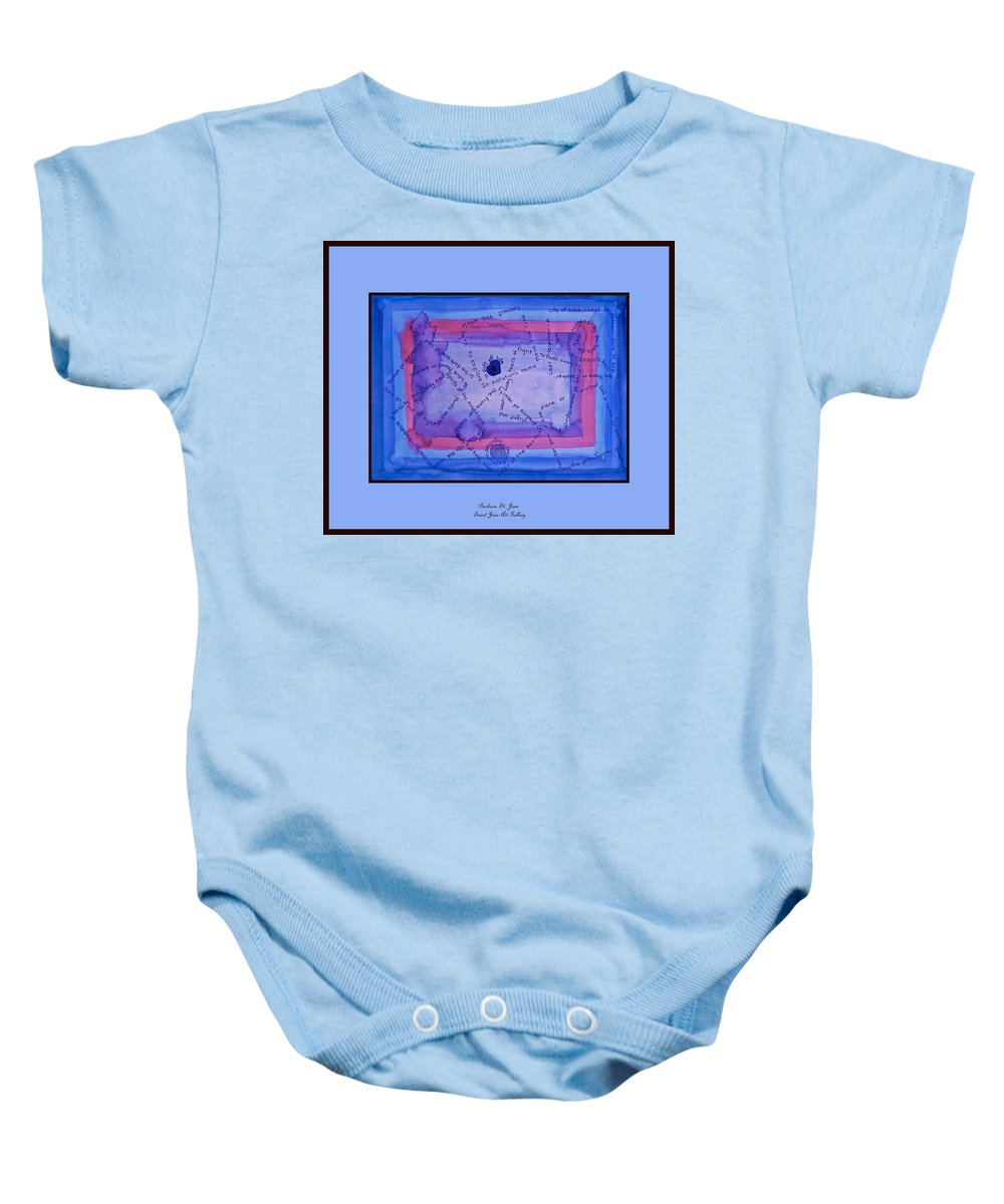 Painting Baby Onesie featuring the digital art Blue Threads by Barbara St Jean