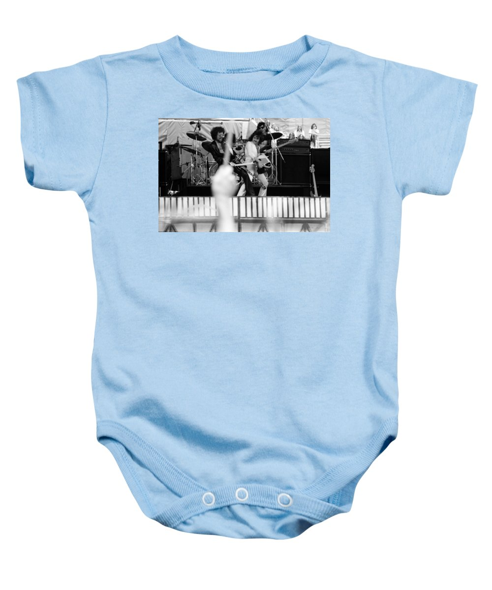 Blue Oyster Cult Baby Onesie featuring the photograph Boc #42 by Ben Upham