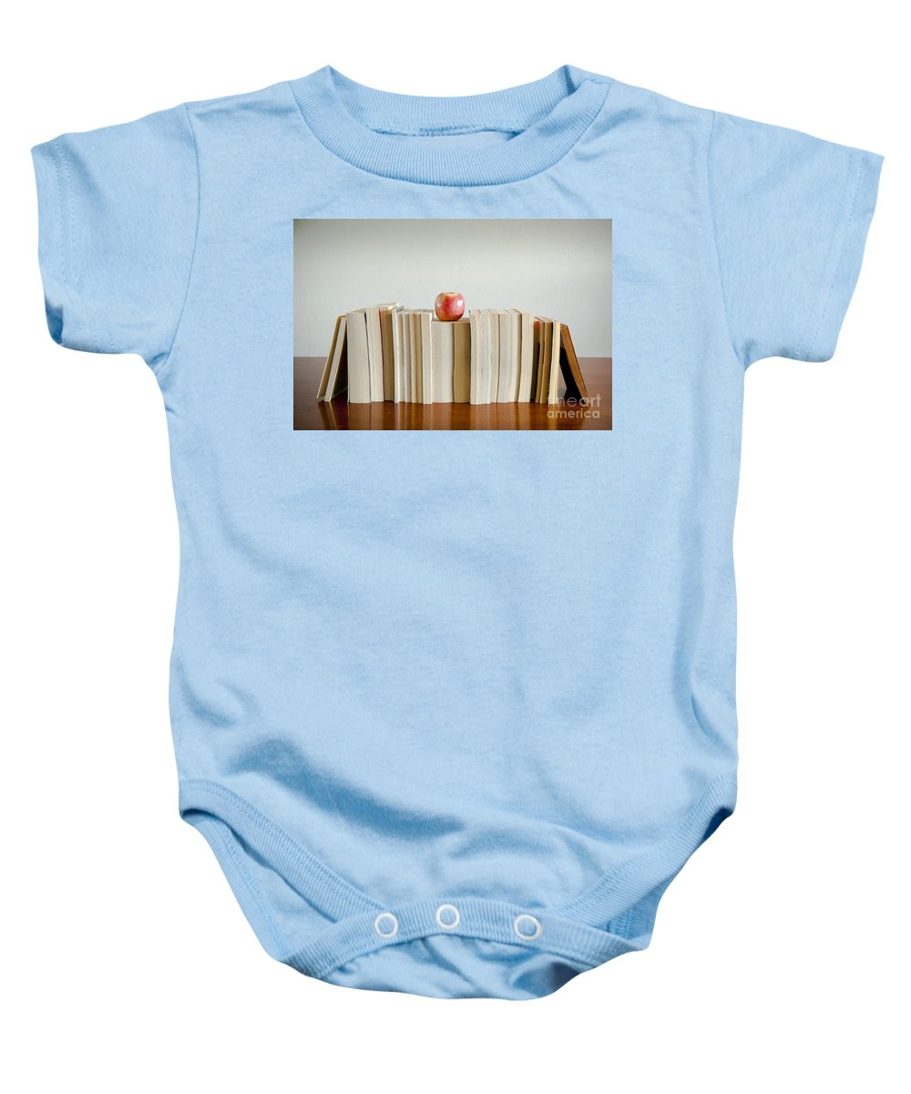 Book Baby Onesie featuring the photograph Brain Food by Tim Hester