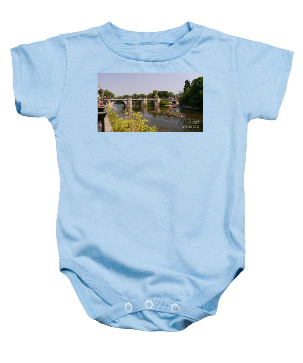 Bridge Baby Onesie featuring the photograph Bridgnorth Bridge by John Chatterley