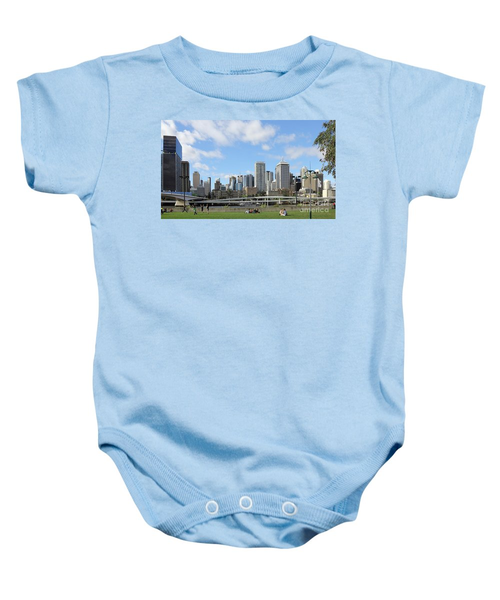 City Baby Onesie featuring the photograph Brisbane City by Jola Martysz