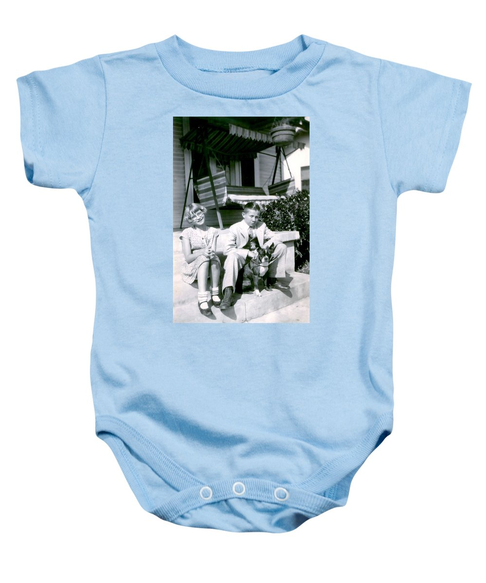 Vintage Baby Onesie featuring the photograph Brother And Sister by Image Takers Photography LLC