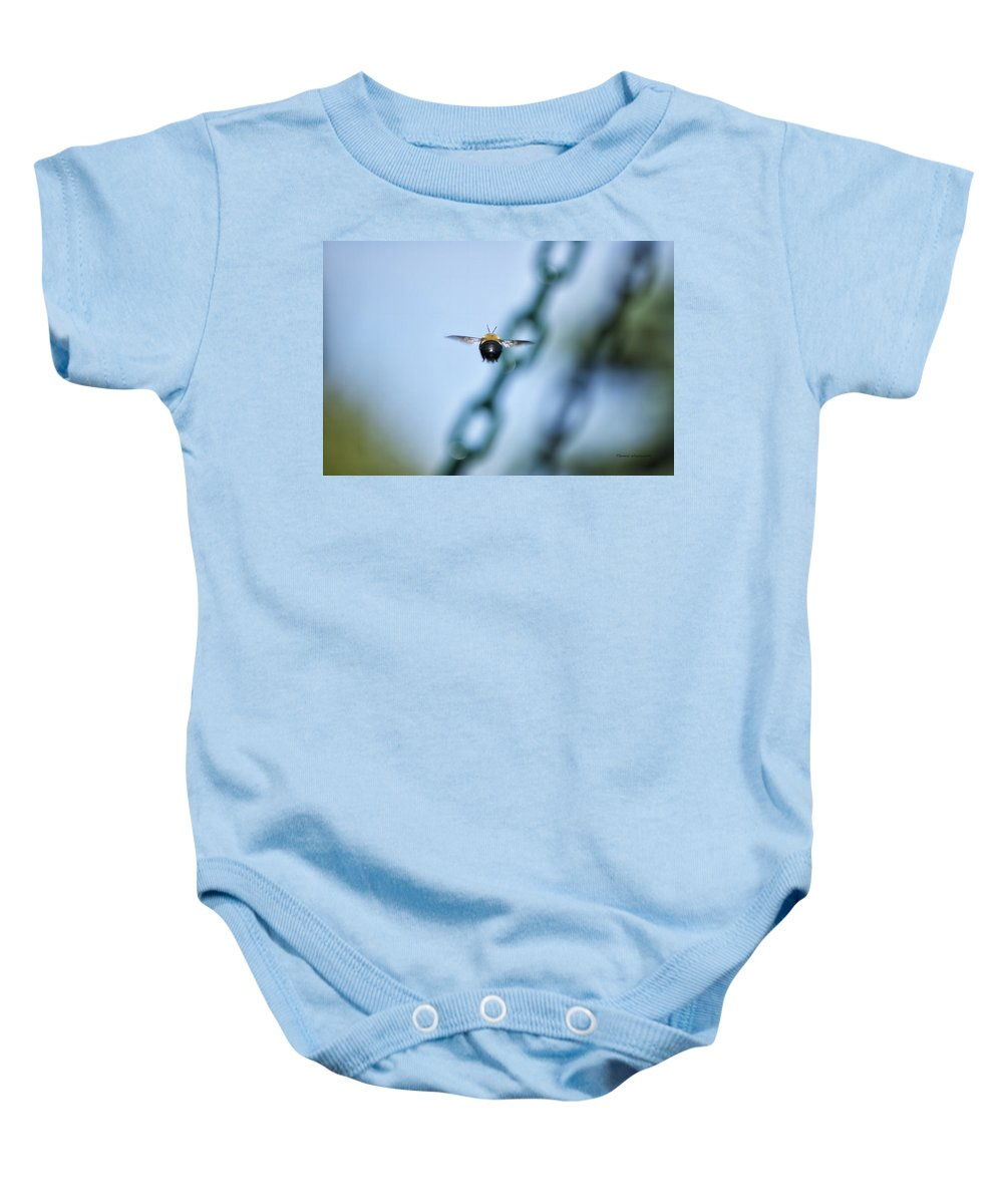 Bee Baby Onesie featuring the photograph Bumble Bee 01 by Thomas Woolworth