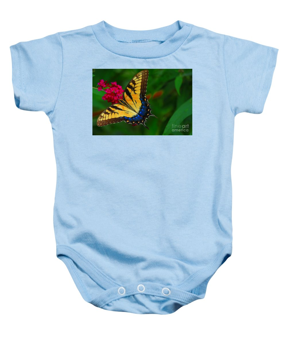 Butterfly Baby Onesie featuring the photograph Butterfly by Geraldine DeBoer