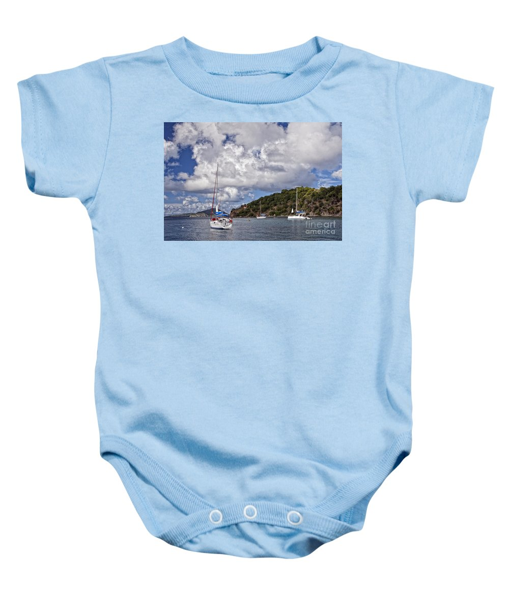 Bvi Baby Onesie featuring the photograph Bvi Clouds by Timothy Hacker