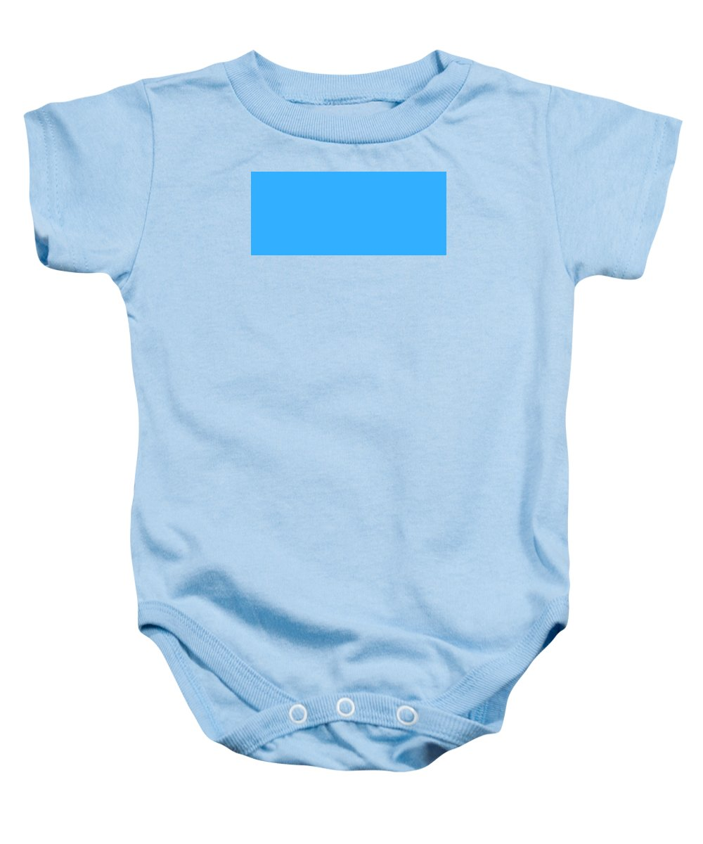 Abstract Baby Onesie featuring the digital art C.1.51-175-255.7x3 by Gareth Lewis
