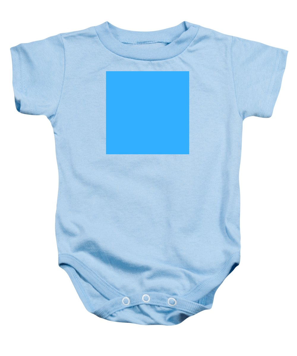 Abstract Baby Onesie featuring the digital art C.1.51-175-255.7x7 by Gareth Lewis