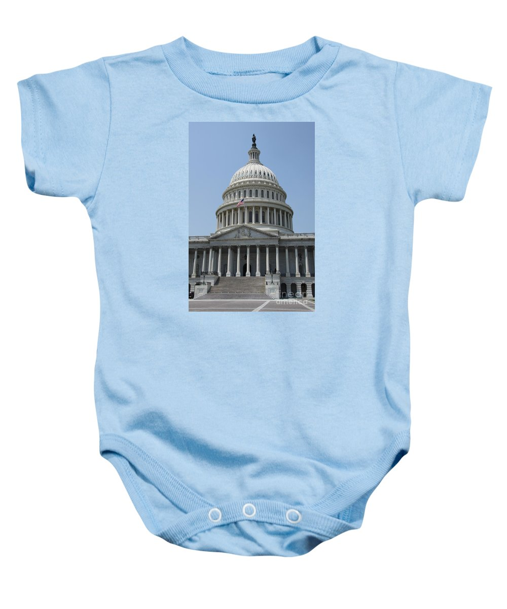 Cupola Baby Onesie featuring the photograph Capitol Washington Dc by Christiane Schulze Art And Photography