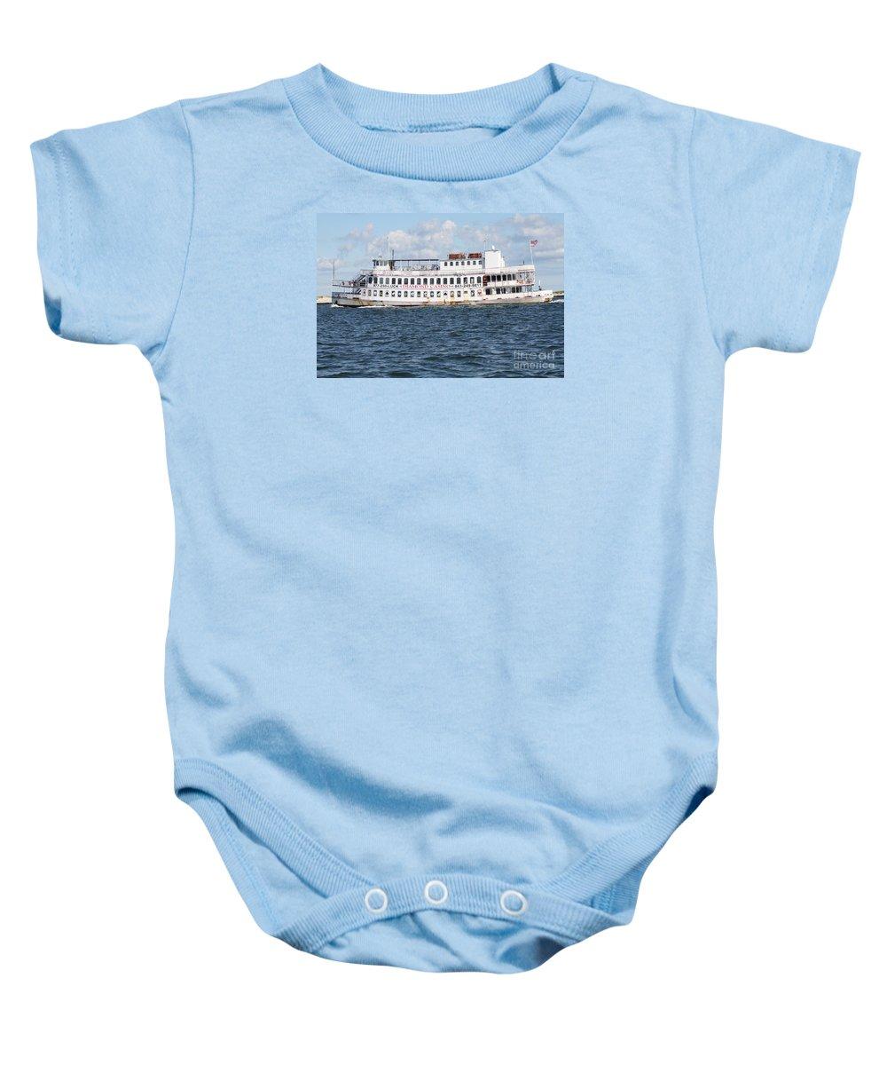 Casino Boat Coming Into Port Baby Onesie featuring the photograph Casino Boat Coming Into Port by John Telfer