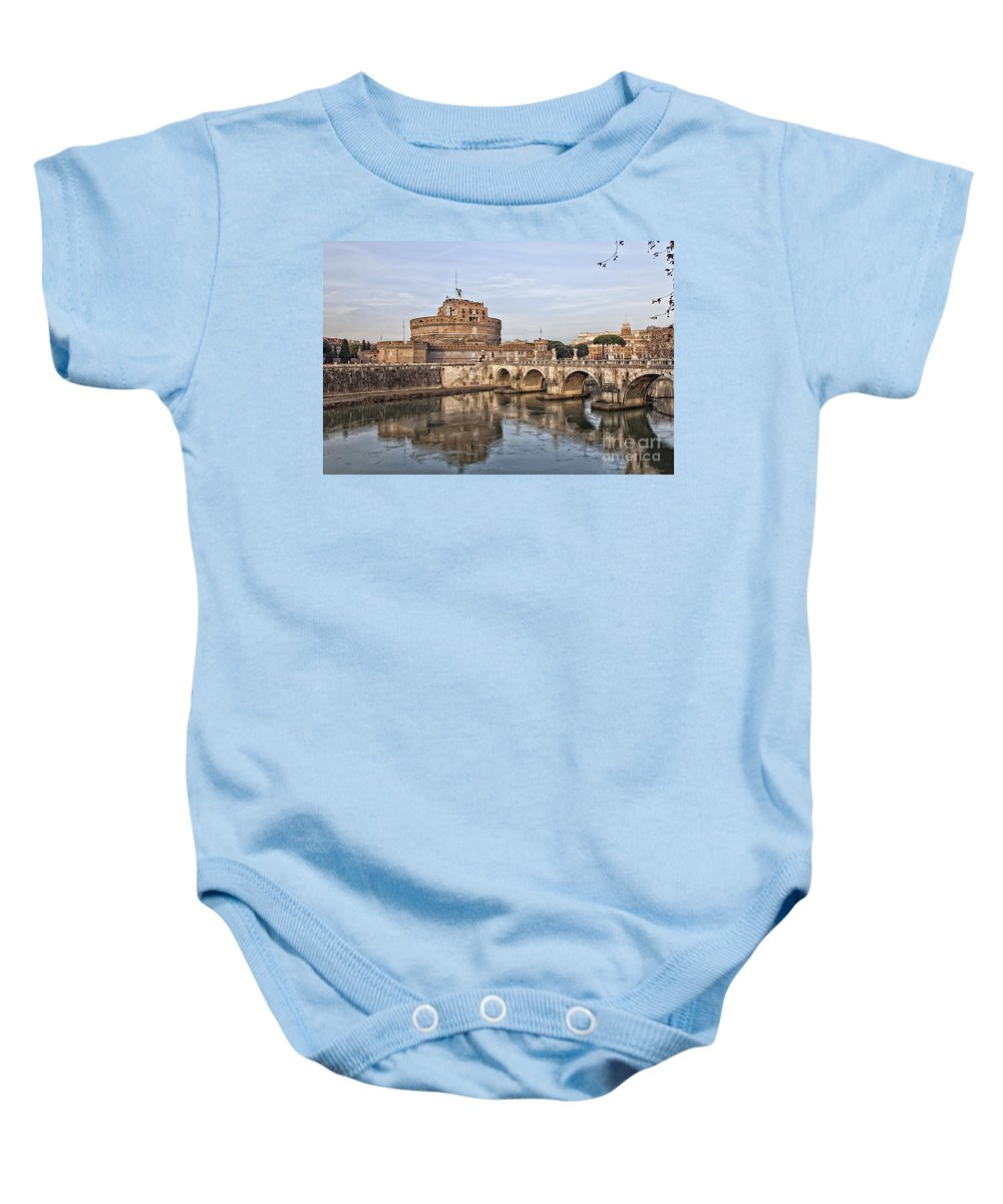 Rome Baby Onesie featuring the photograph Castello San Angelo by Sophie McAulay
