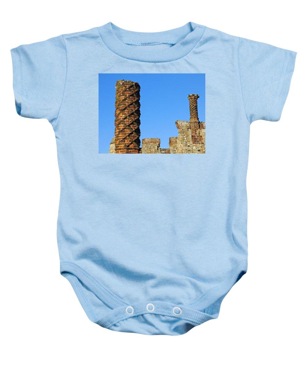 Castle Baby Onesie featuring the photograph Castle Brickwork by Ann Horn