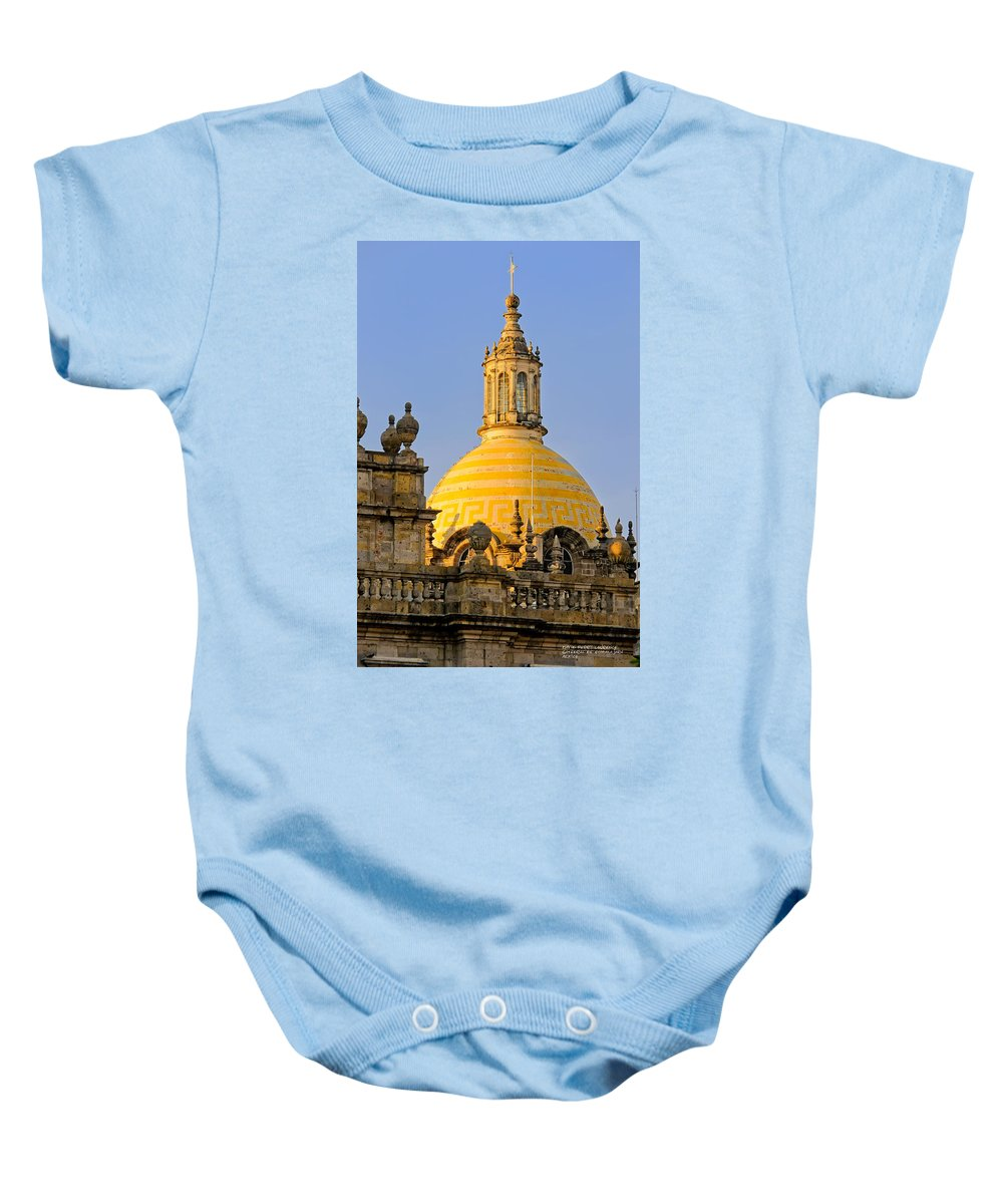 Cathedrals Baby Onesie featuring the photograph Catedral De Guadalajara by David Perry Lawrence