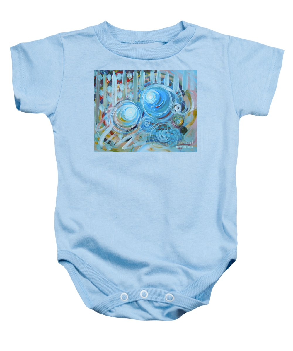 Energy Baby Onesie featuring the painting Changing Energies by Tonya Henderson