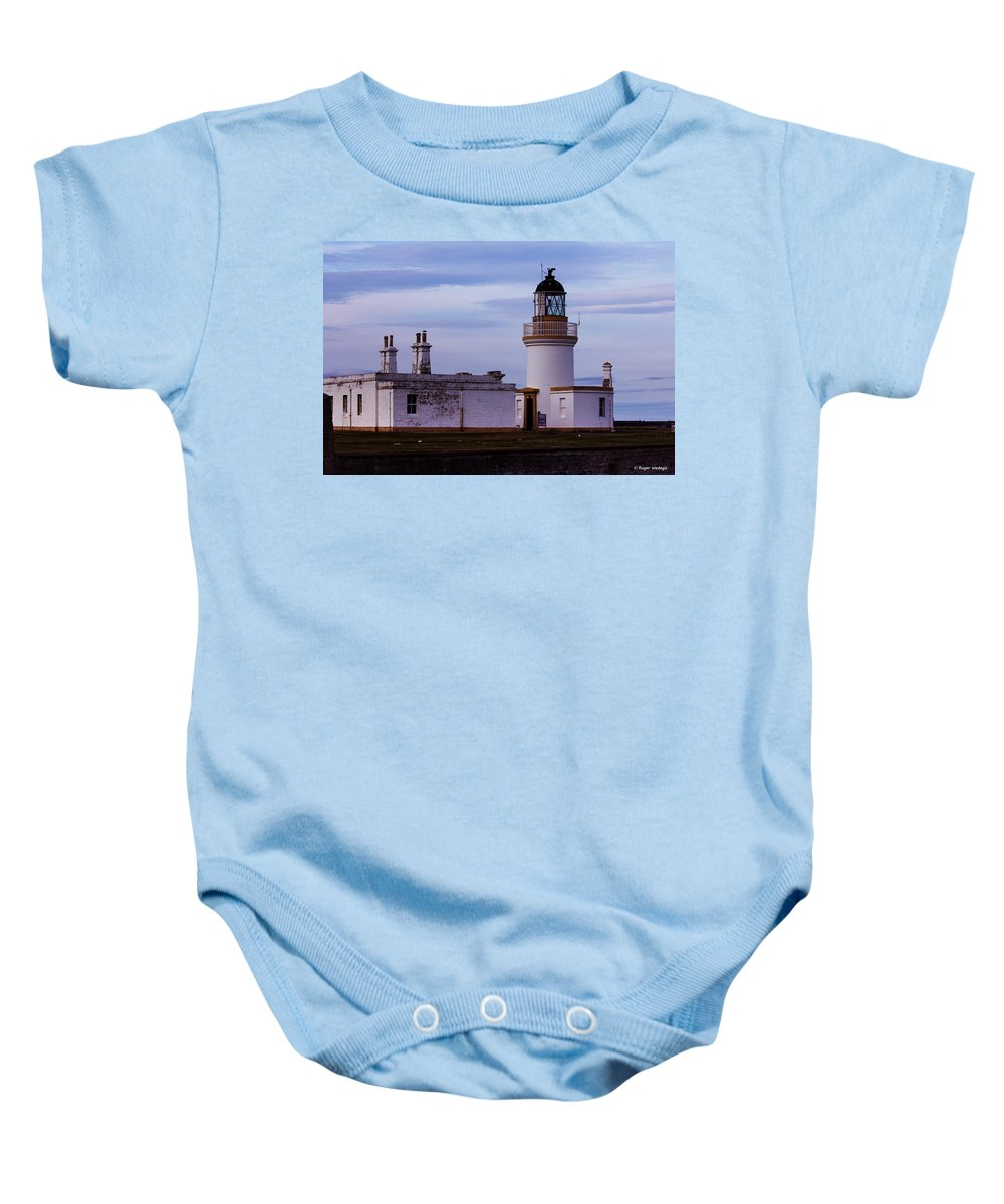 Lighthouse Baby Onesie featuring the photograph Chanonry Point Lighthouse by Roger Wedegis