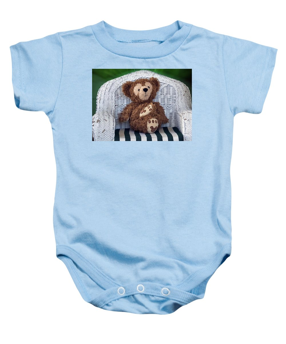 Fantasy Baby Onesie featuring the photograph Chilling Bear by Thomas Woolworth