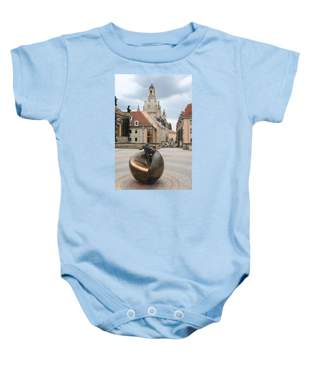 Church Baby Onesie featuring the photograph Church Of Our Lady - Dresden - Germany by Christiane Schulze Art And Photography