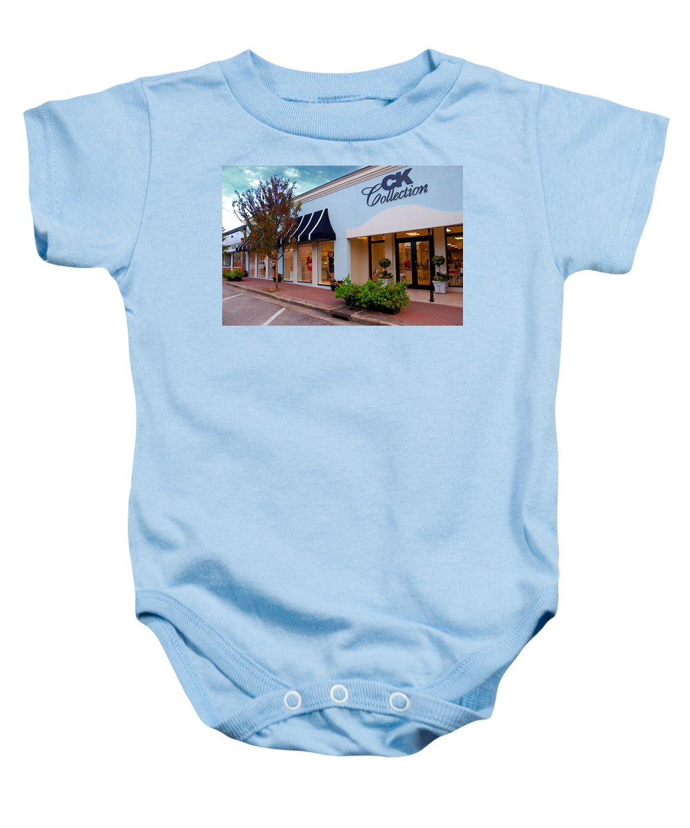 Home Portraits Baby Onesie featuring the digital art Ck Building by Michael Thomas
