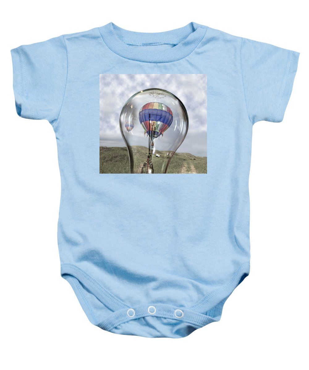 Hot Baby Onesie featuring the digital art Clear Idea by Betsy Knapp
