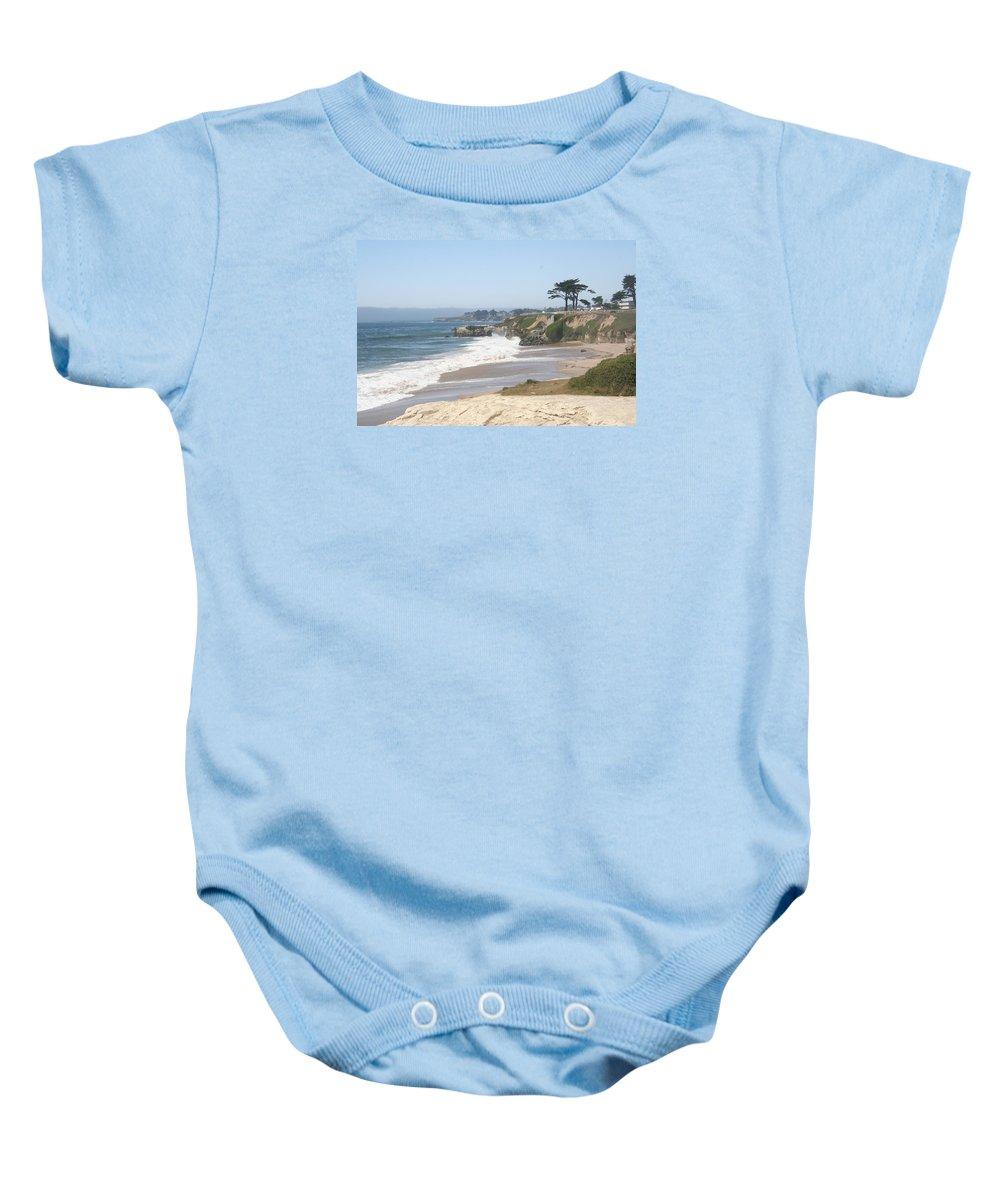 Coast Baby Onesie featuring the photograph Santa Cruz Cliffline by Christiane Schulze Art And Photography