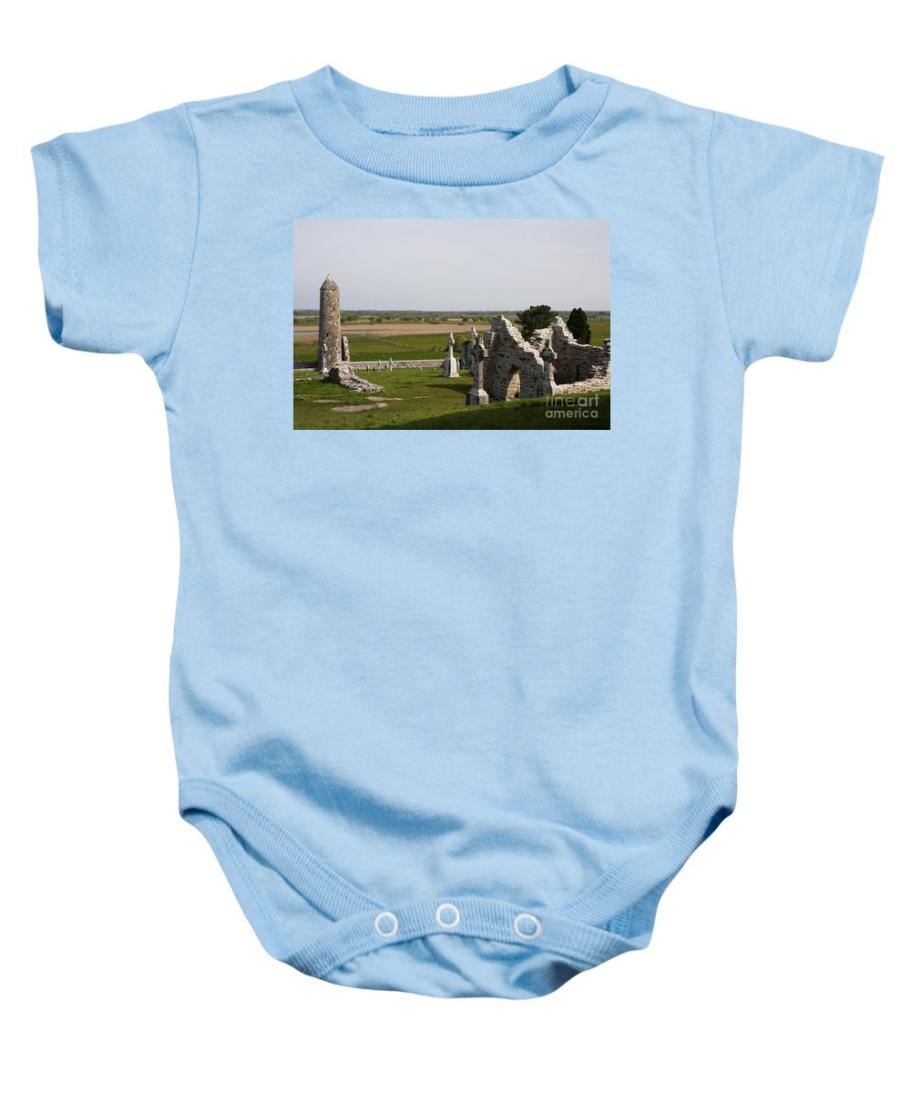 Clonmacnoise Baby Onesie featuring the photograph Clonmacnoise - Ireland by Christiane Schulze Art And Photography