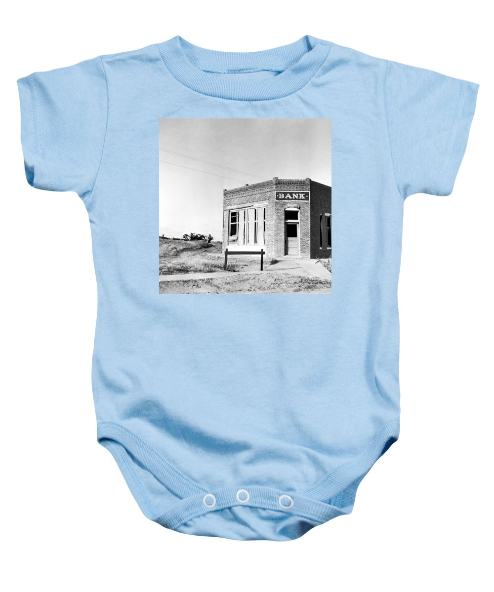 1936 Baby Onesie featuring the photograph Closed Bank, 1936 by Granger