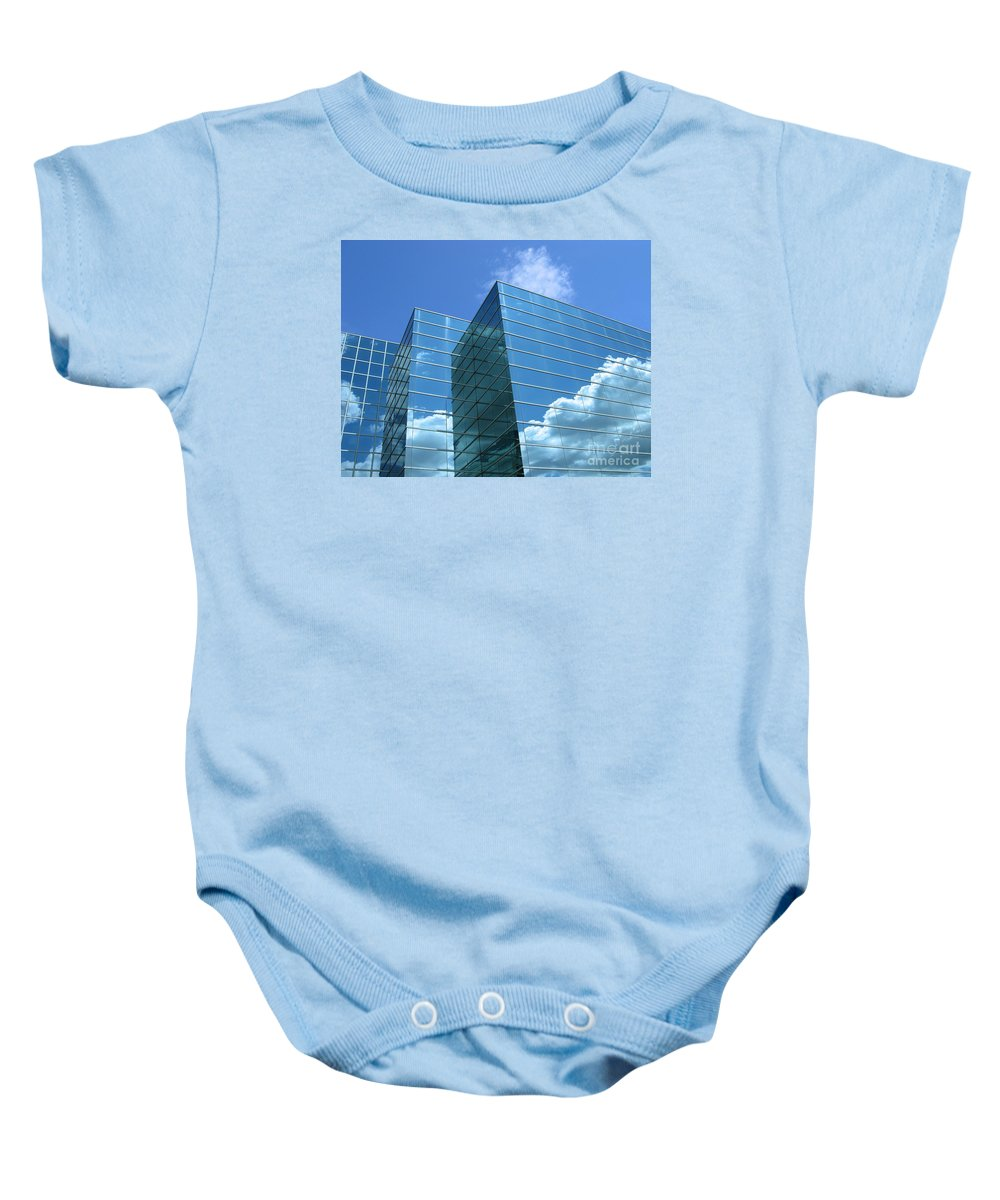 Building Baby Onesie featuring the photograph Cloud Mirror by Ann Horn