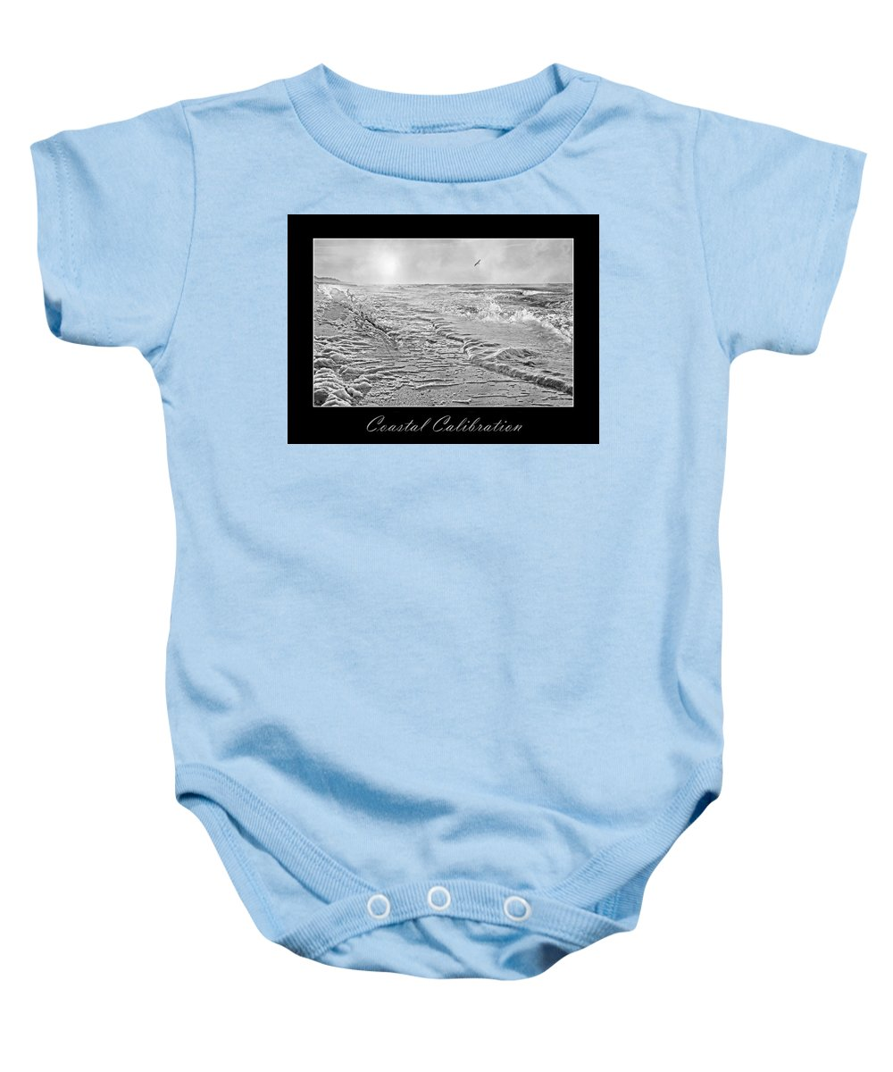 Shore Baby Onesie featuring the digital art Coastal Calibration by Betsy Knapp