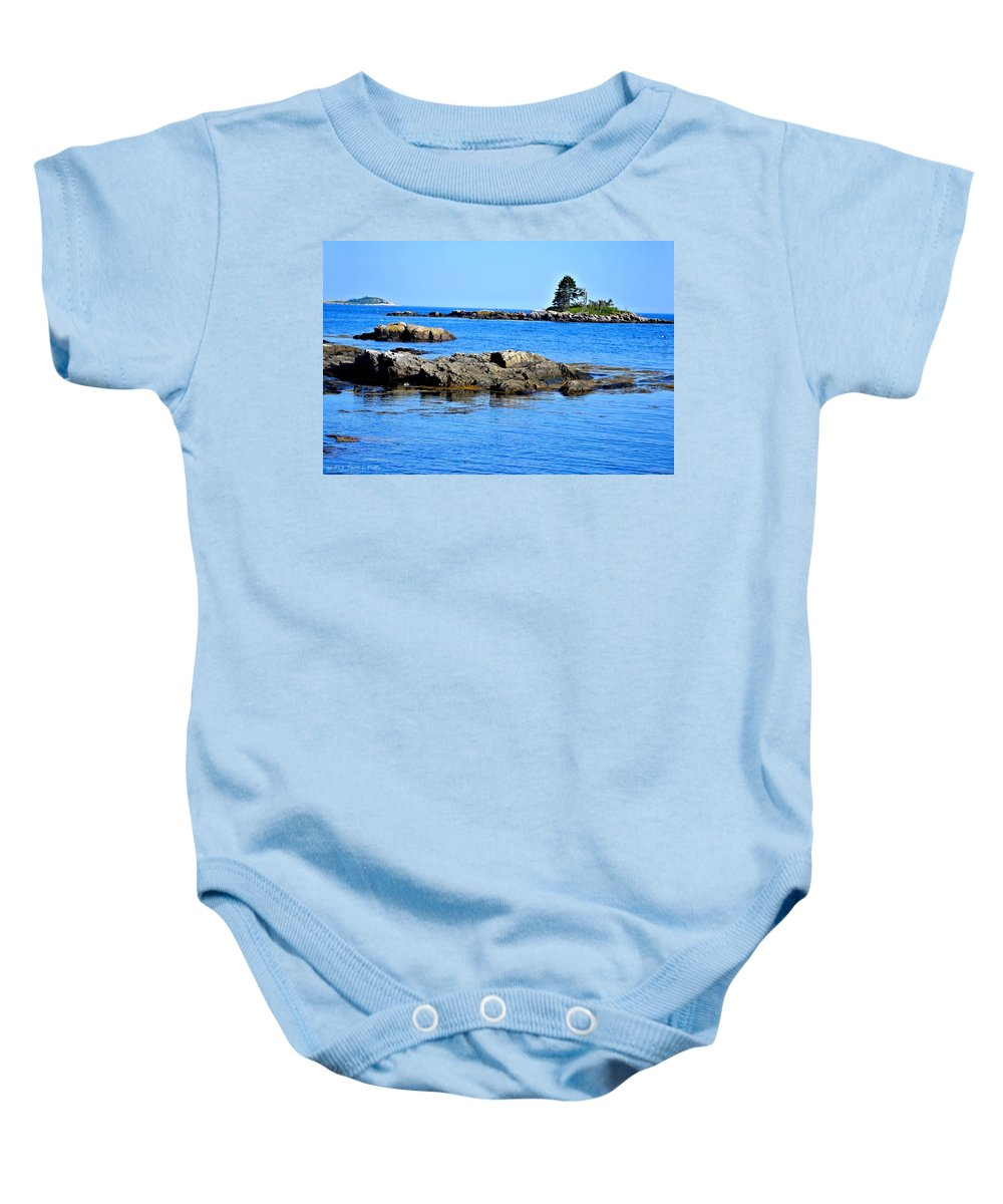 Coast Baby Onesie featuring the photograph Coastal Route 1 In Maine by Tara Potts