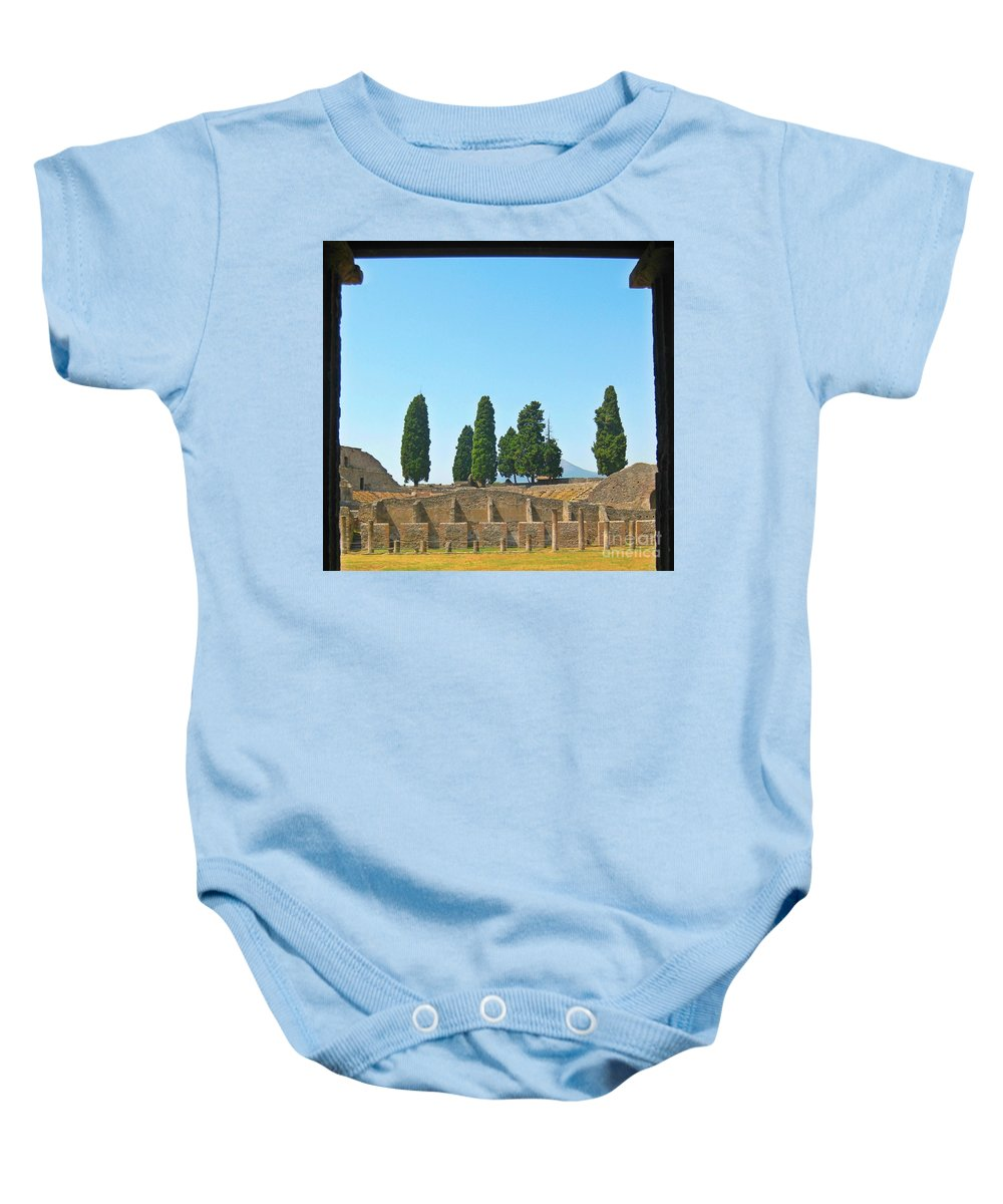 Coliseums Baby Onesie featuring the photograph Coliseum At Pompeii by John Malone