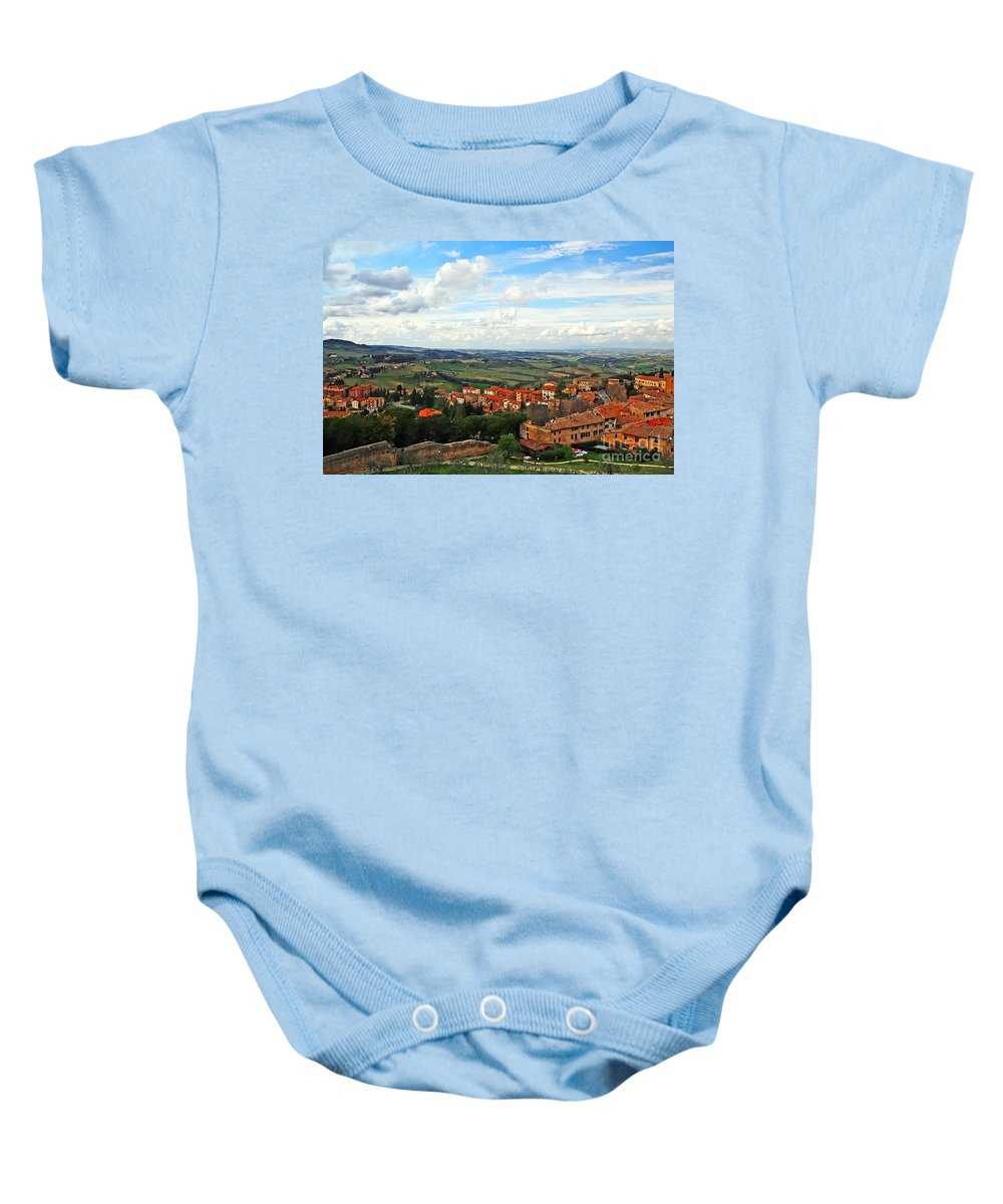 Travel Baby Onesie featuring the photograph Color Of Tuscany by Elvis Vaughn