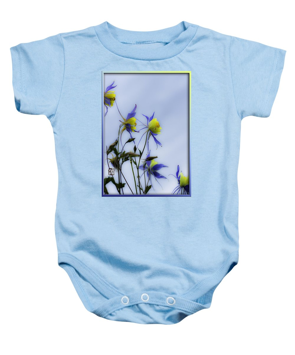 Columbine Flowers Baby Onesie featuring the photograph Columbines by Peter v Quenter