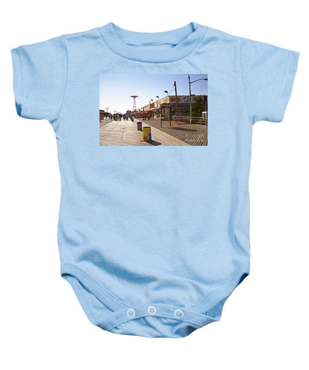 Coney Island Baby Onesie featuring the photograph Coney Island Memories 8 by Madeline Ellis