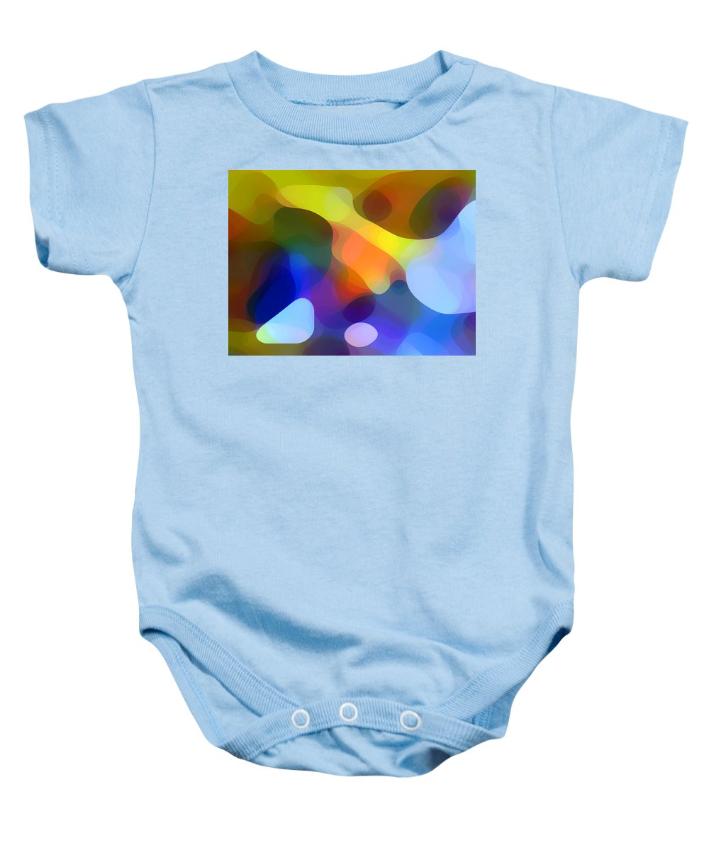 Bold Baby Onesie featuring the painting Cool Dappled Light by Amy Vangsgard