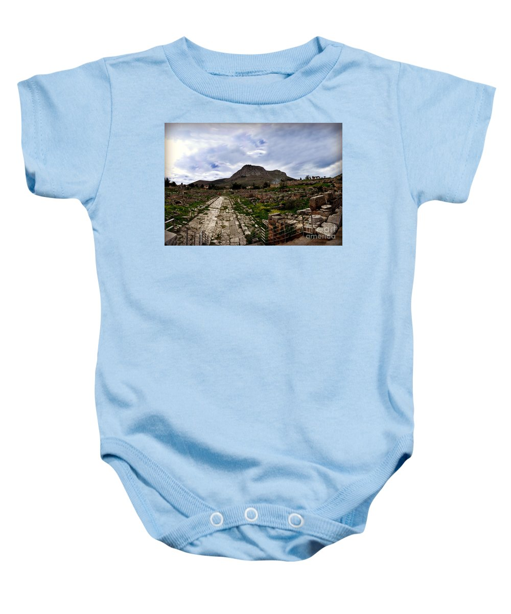 Corinth Baby Onesie featuring the photograph Corinth by Eric Liller