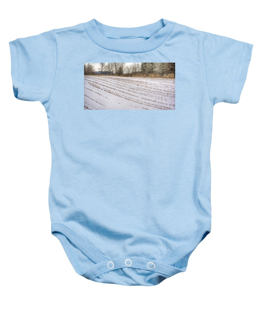 Guy Whiteley Photography Baby Onesie featuring the photograph Corn Code by Guy Whiteley