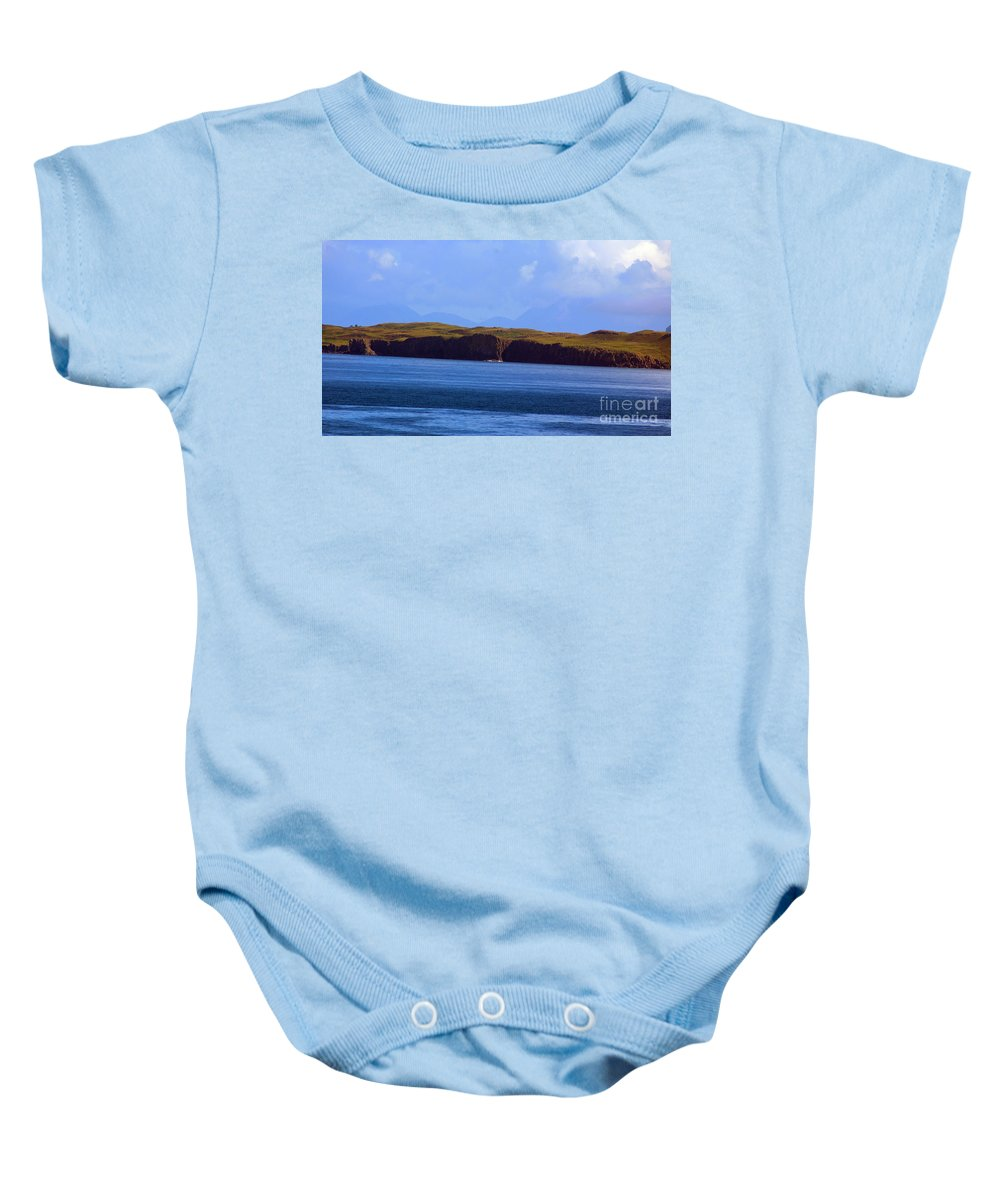 Scotland Baby Onesie featuring the photograph Craggy Coast 2 by Nancy L Marshall
