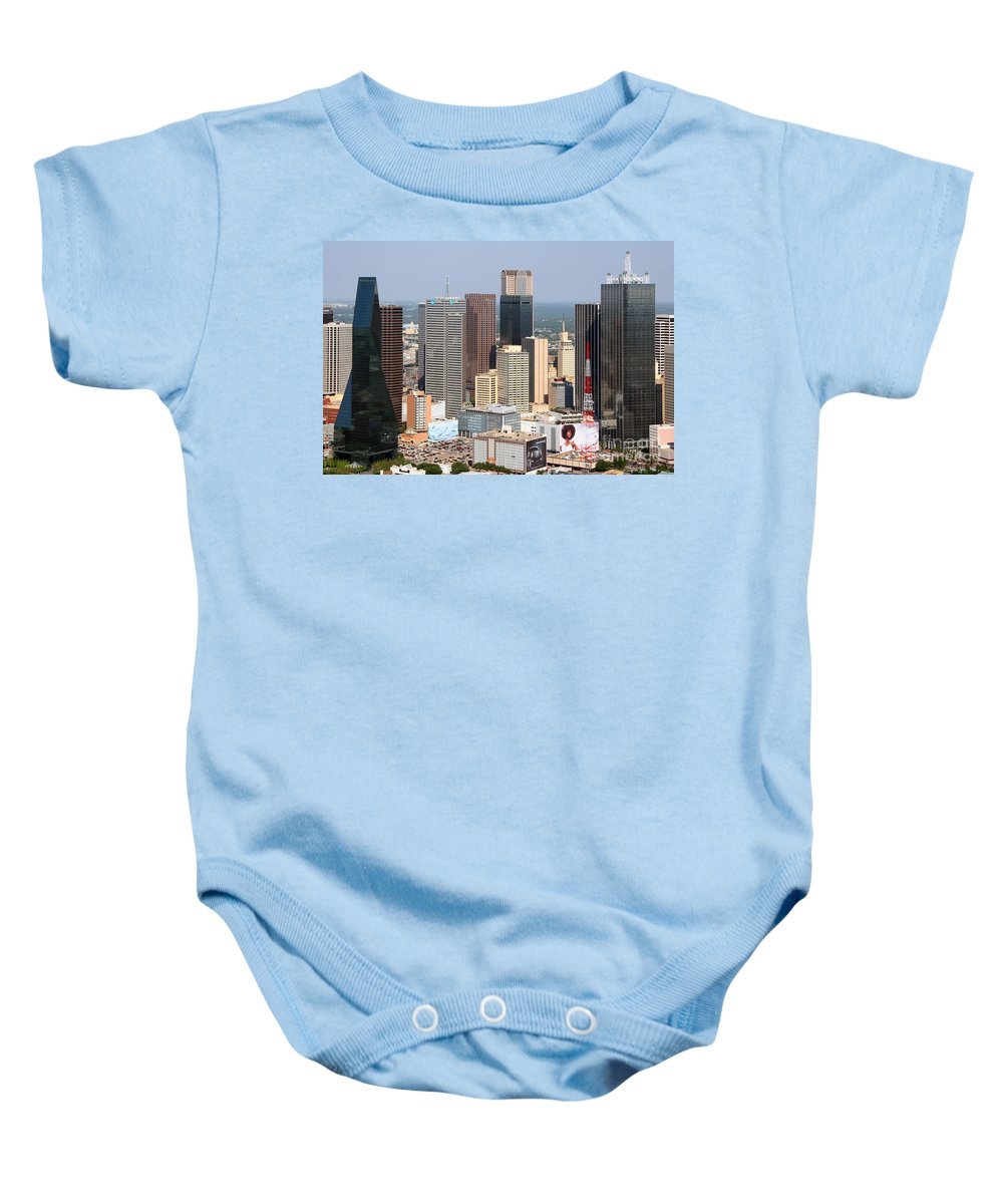 Dallas Baby Onesie featuring the photograph Dallas Skyline by Bill Cobb